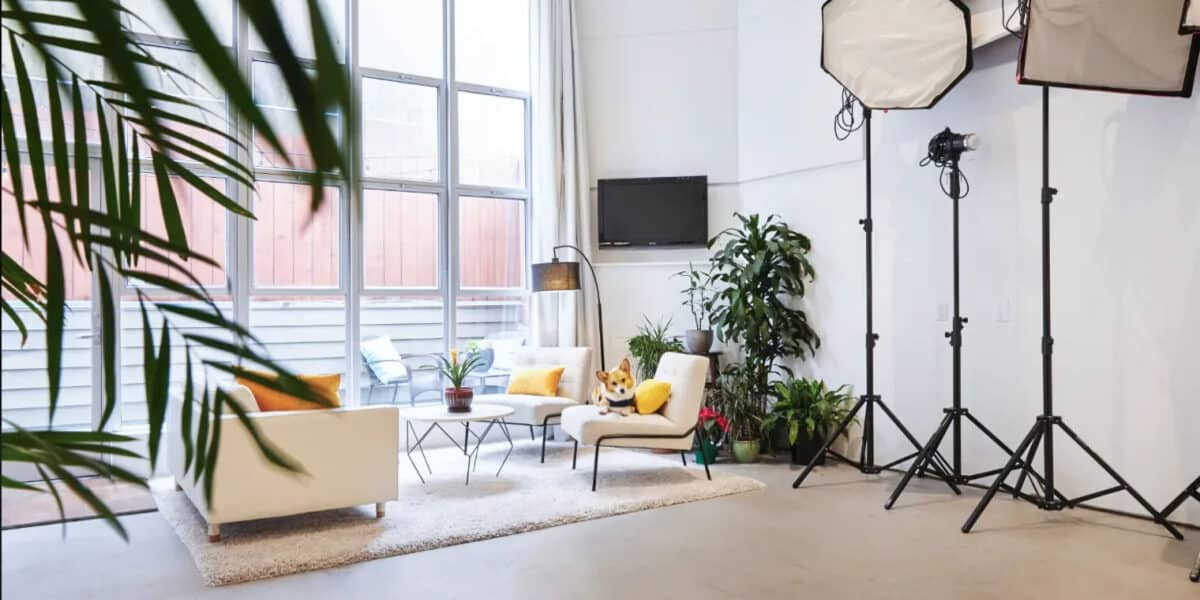 super bright and charming studio