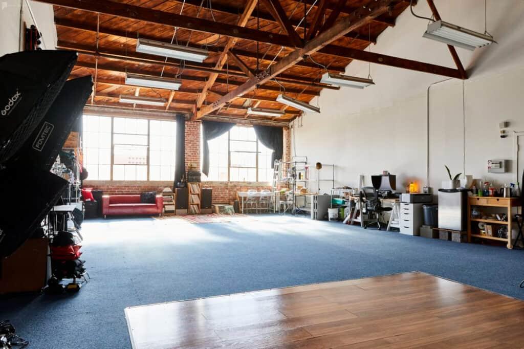 spacious photo and video studio