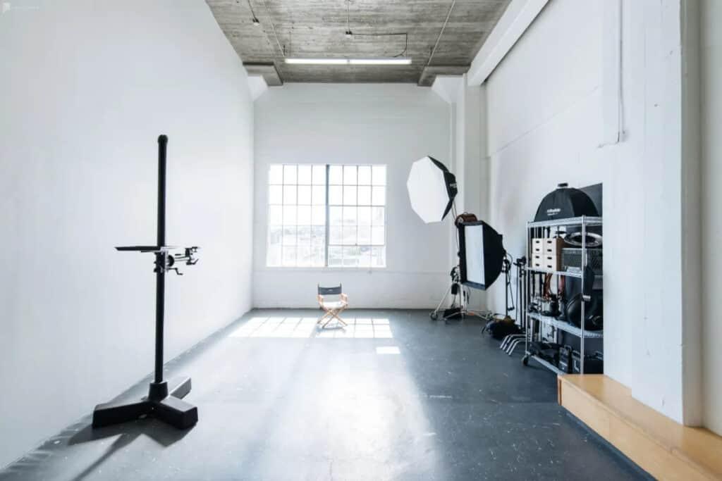 bright and spacious photo studio