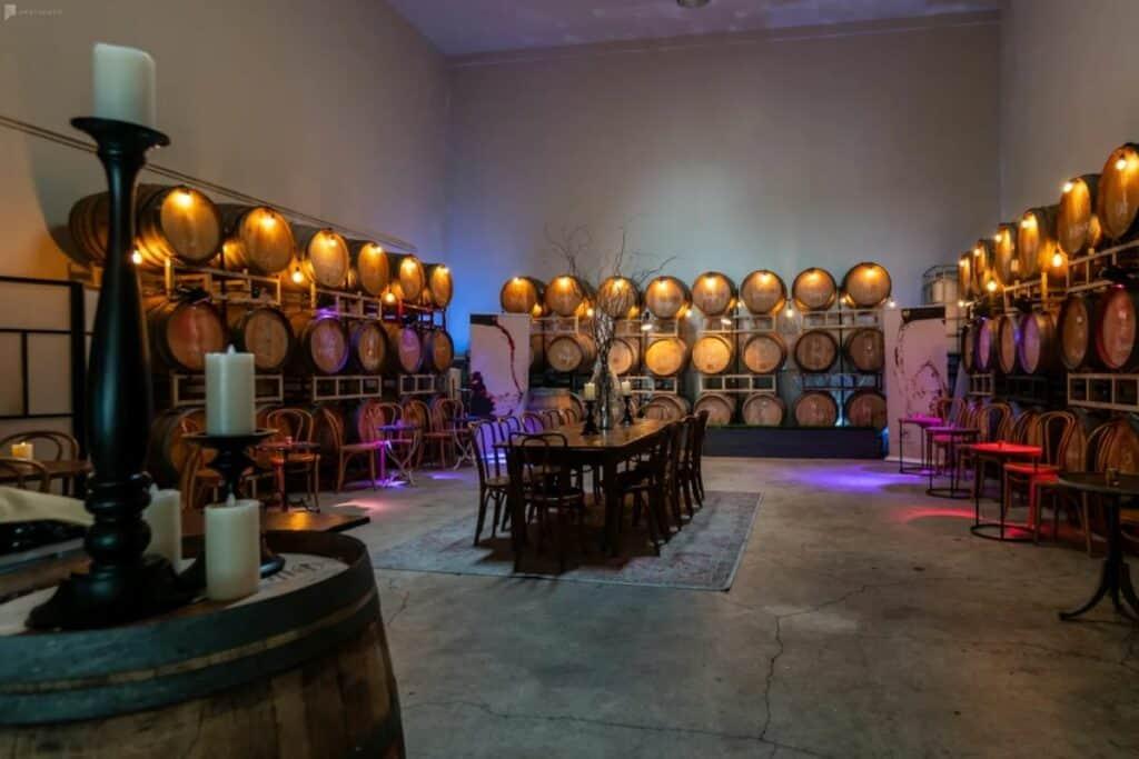 elegant urban winery event space