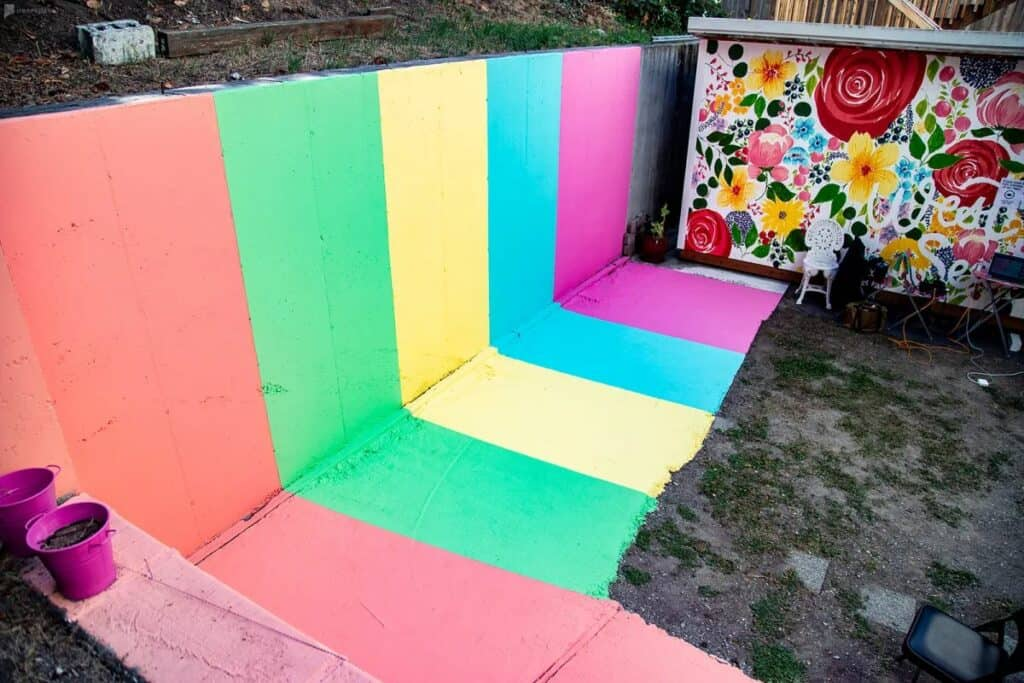 colorful mural for photoshoots in seattle