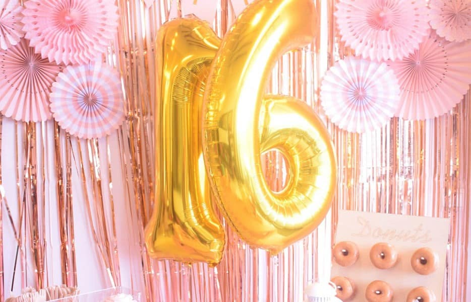 Personalised Sweet Sixteen Birthday Banner Wall Decoration Party 16th Sixteenth