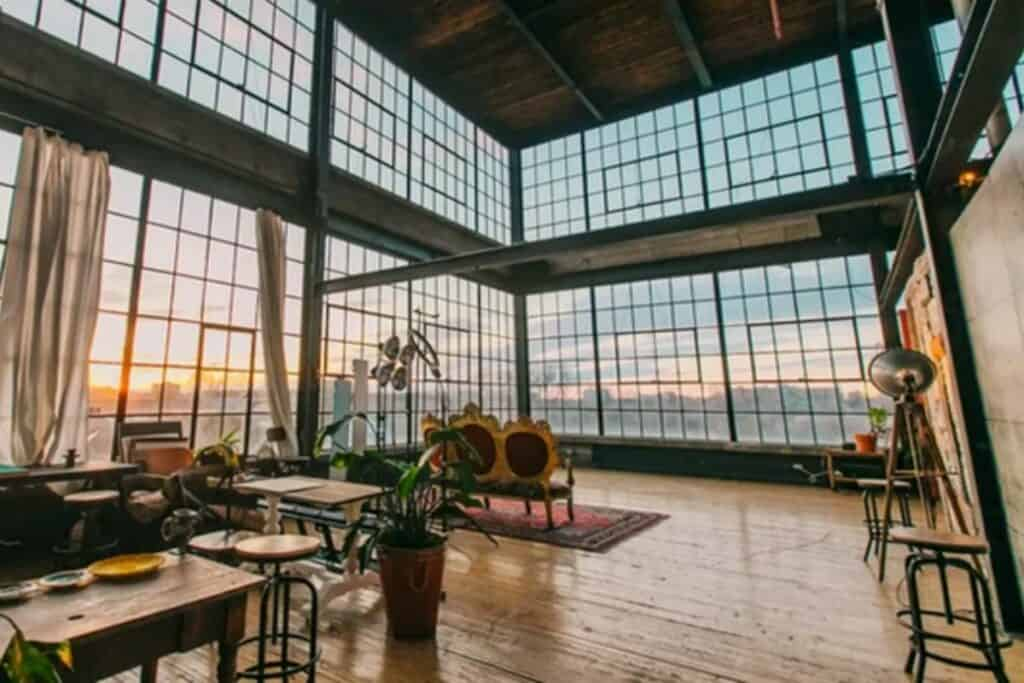 airy, well lit warehouse in toronto