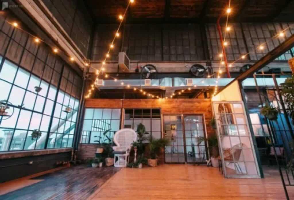 rustic, modern warehouse space in toronto