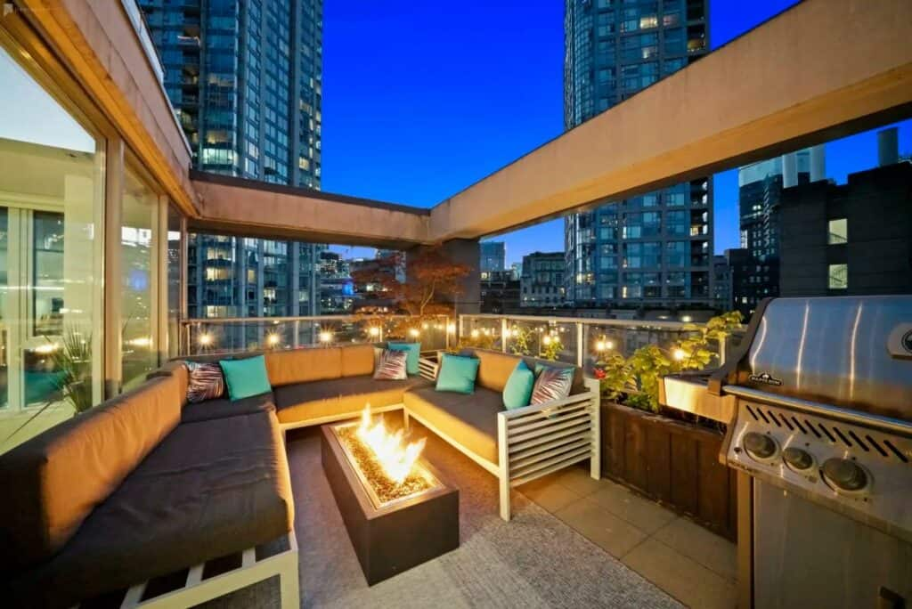 inviting penthouse patio in vancouver