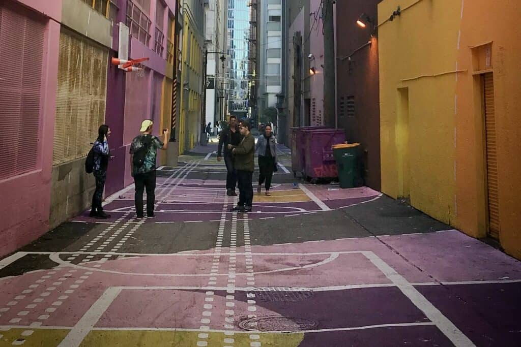 pink alley in vancouver