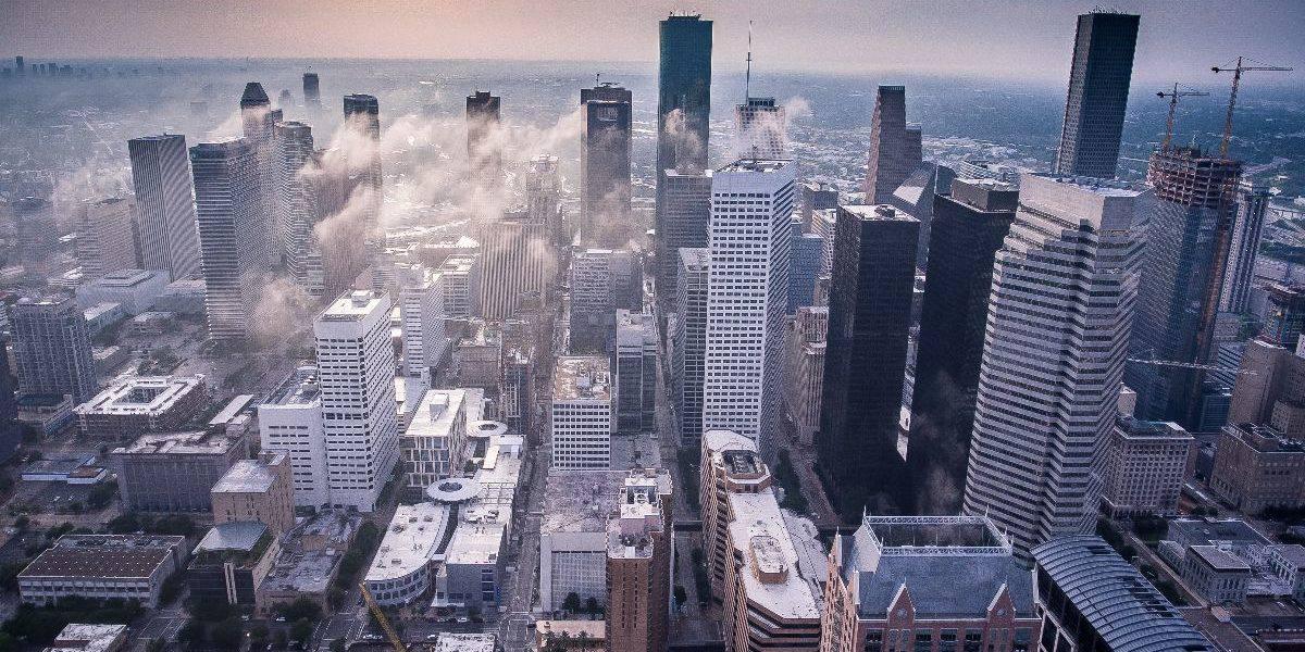 city skyline of downtown Houston, Texas
