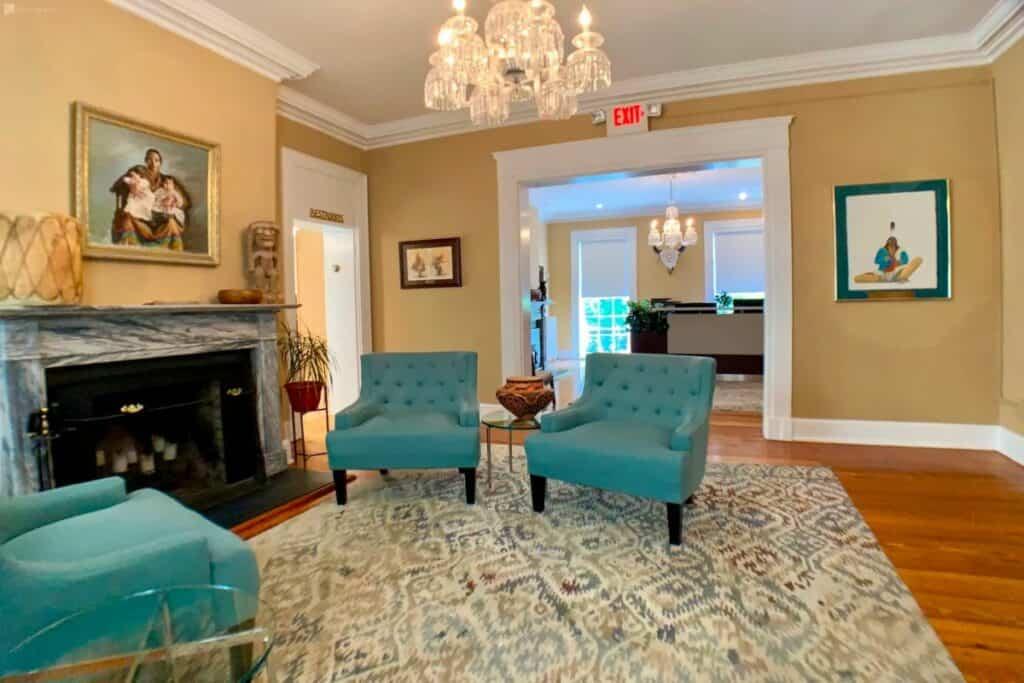 an elegant historic mansion