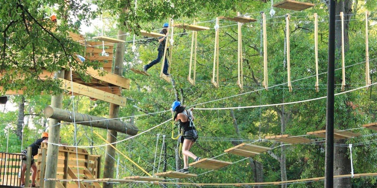 team outing ziplining